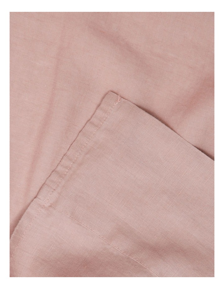 Sandy Cape Washed Belgian Linen Sheet Set in Pink image 1