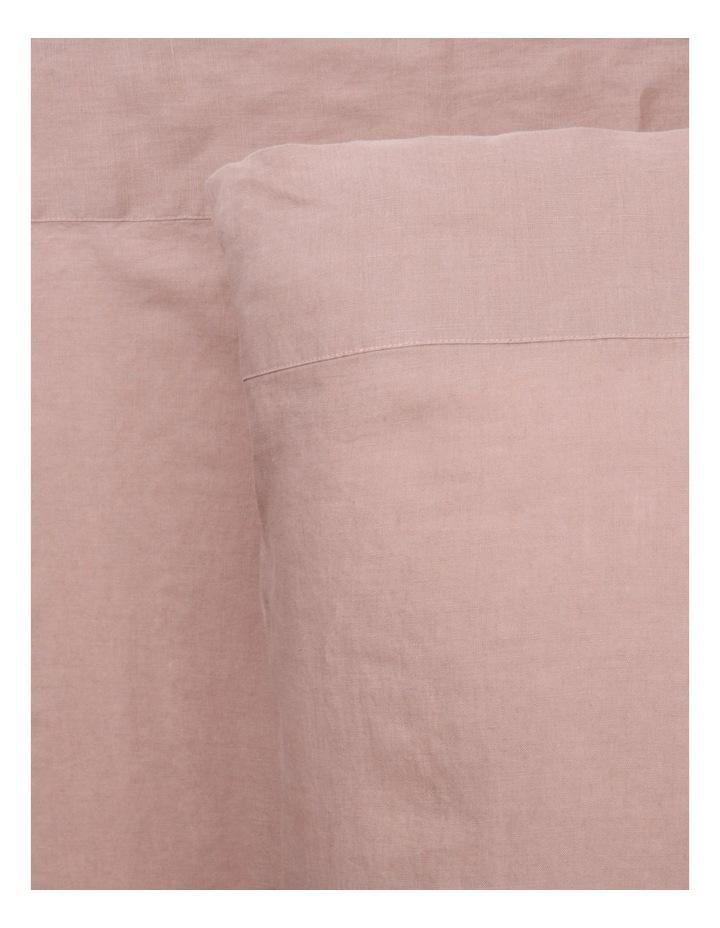 Sandy Cape Washed Belgian Linen Sheet Set in Pink image 1