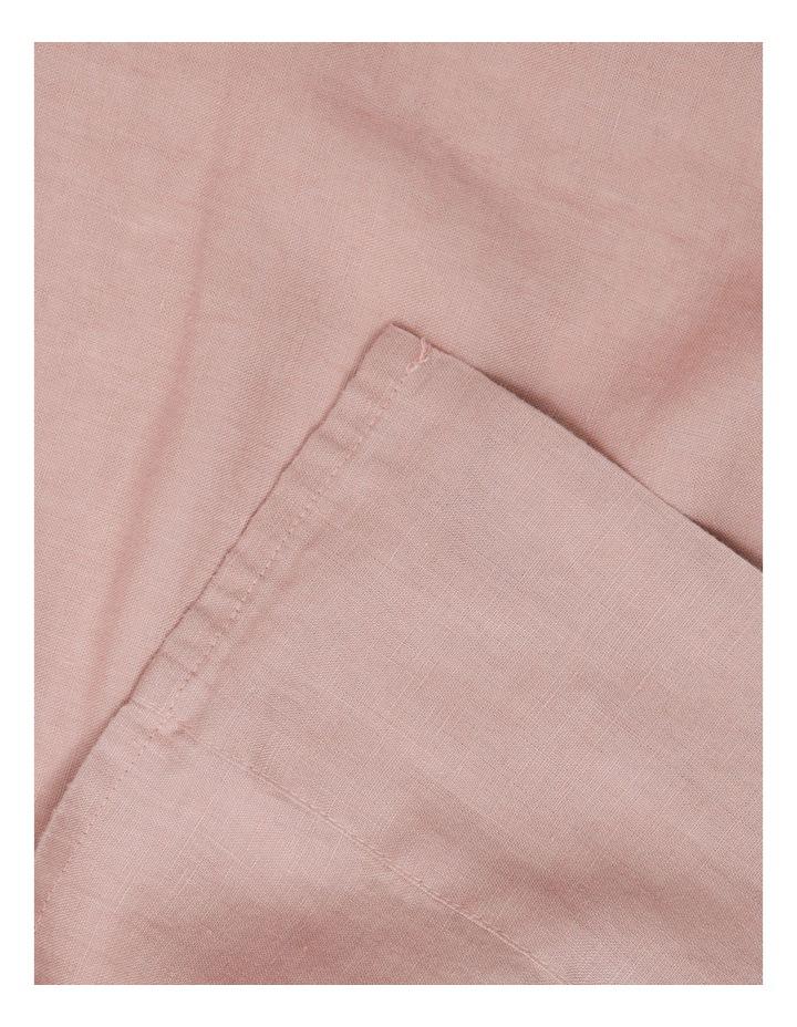 Sandy Cape Washed Belgian Linen Sheet Set in Pink image 2
