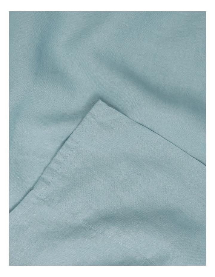 Sandy Cape Washed Belgian Linen Sheet Set in Ocean image 2