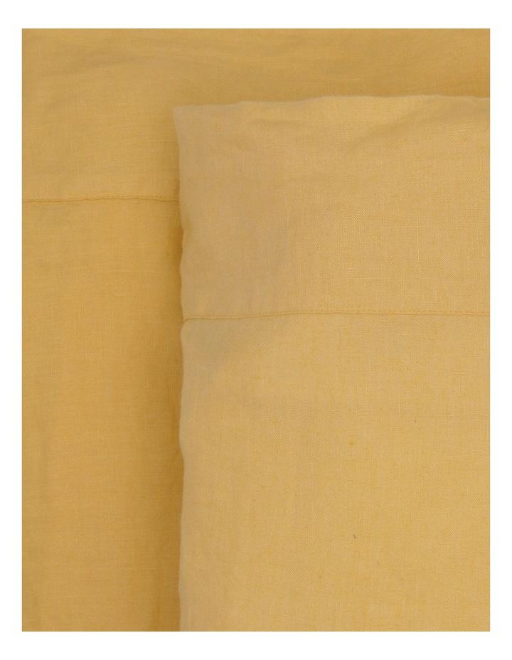 Sandy Cape Washed Belgian Linen Sheet Set in Saffron image 1