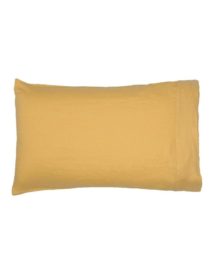 Sandy Cape Washed Belgian Linen Sheet Set in Saffron image 2