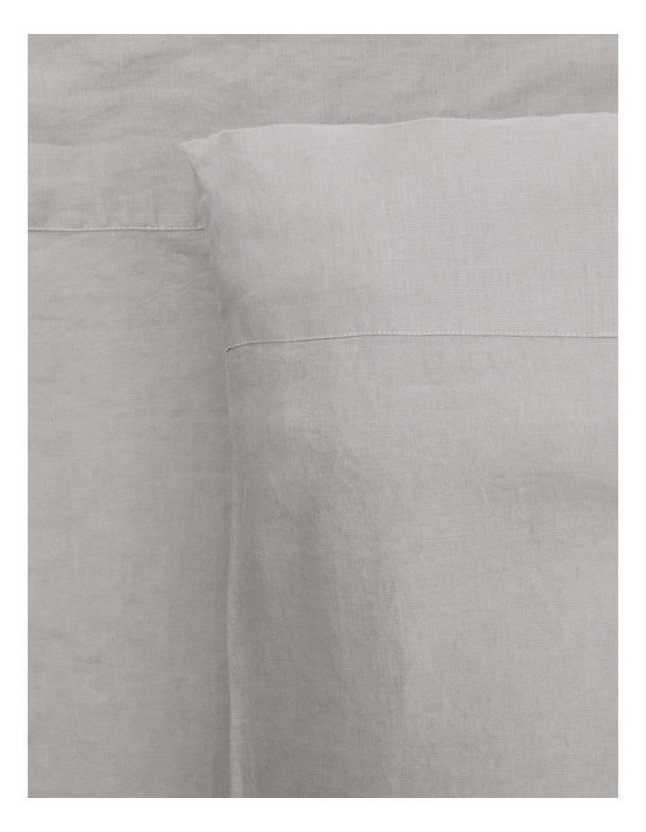 Sandy Cape Washed Belgian Linen Sheet Set in Grey image 1