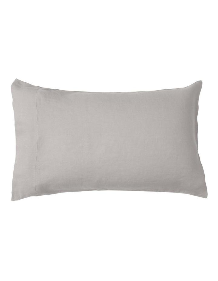 Sandy Cape Washed Belgian Linen Sheet Set in Grey image 3