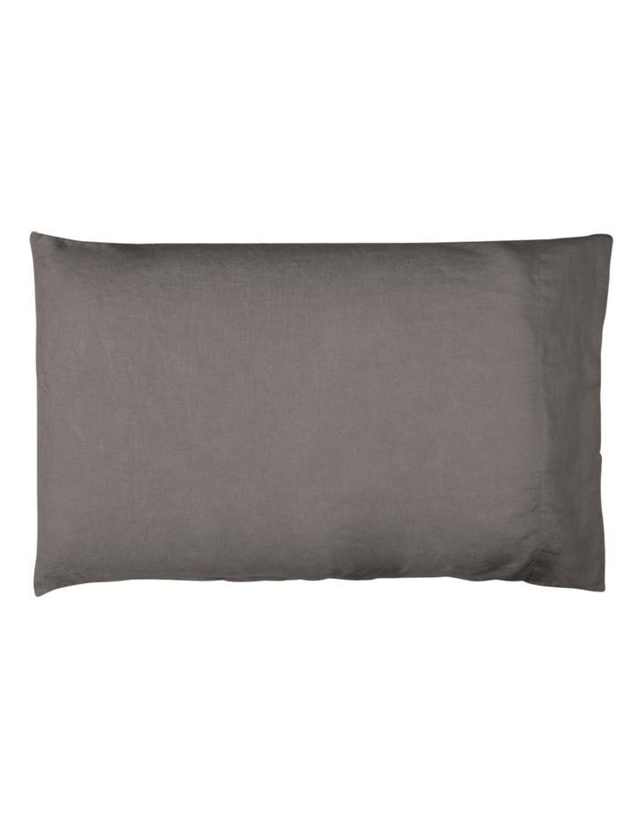 Sandy Cape Linen Sheet Set in Charcoal image 2
