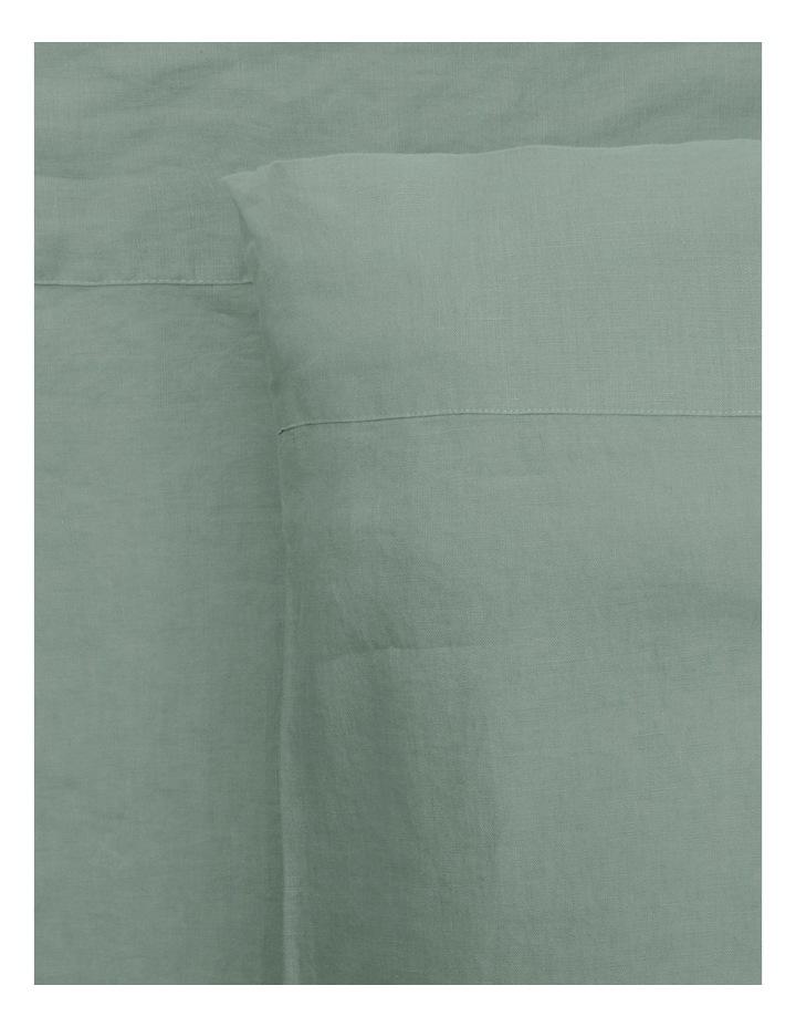 Sandy Cape Washed Belgian Linen Sheet Set In Eucalyptus image 1