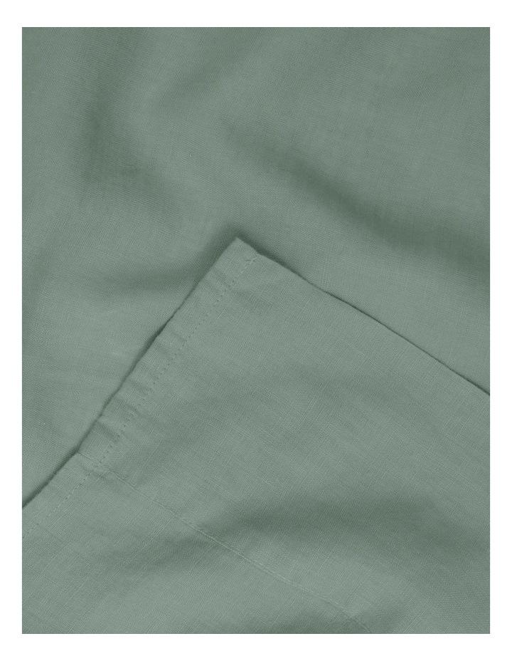 Sandy Cape Washed Belgian Linen Sheet Set In Eucalyptus image 2