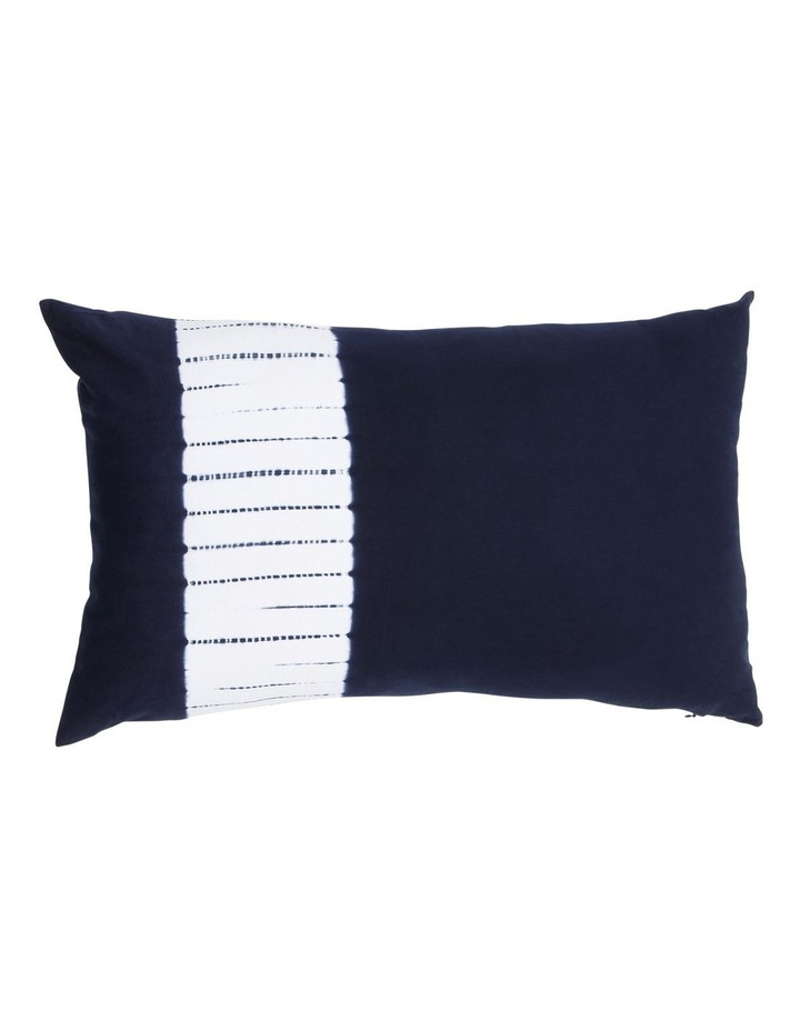 Keppel Tie Dyed Cotton Canvas Cushion in Navy image 1