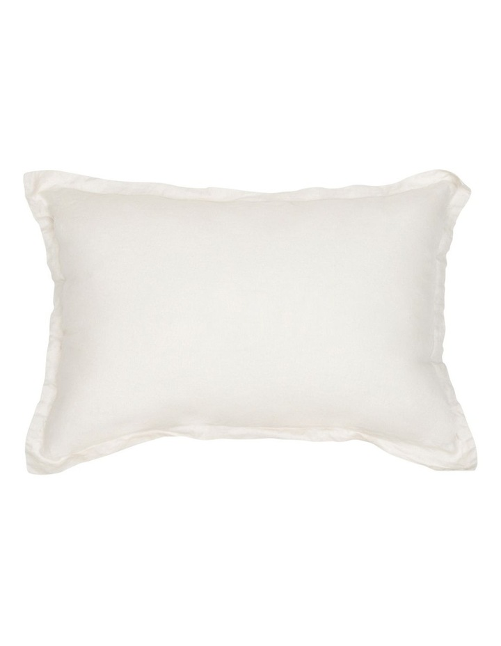Sandy Cape Washed Linen Cushion in Moonbeam image 1