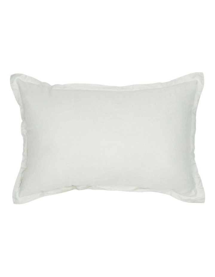 Sandy Cape Washed Linen Cushion in Mineral Grey image 1