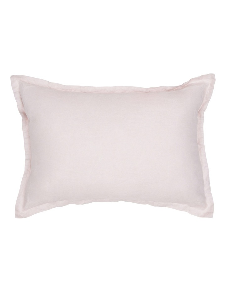 Sandy Cape Washed Linen Cushion in Pale Pink image 1