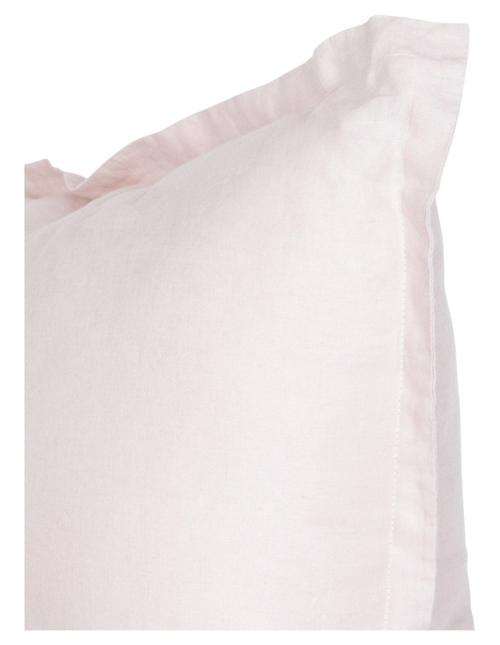 Sandy Cape Washed Linen Cushion in Pale Pink image 2
