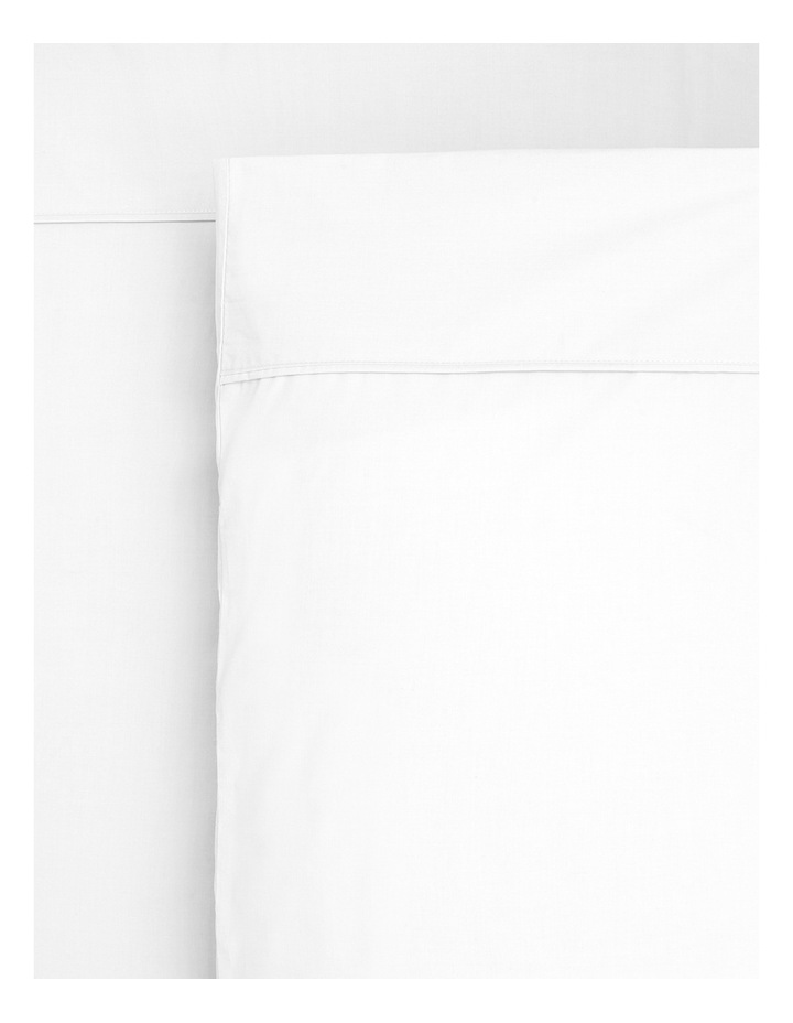 250TC Easy Care Cotton Rich Fitted Sheets in White image 1