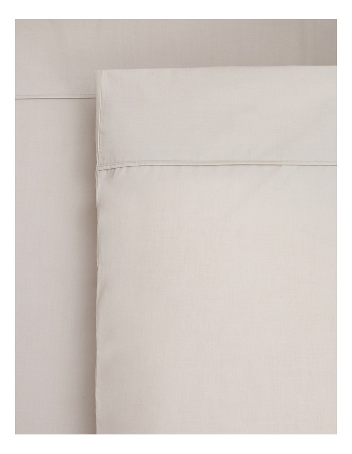 250TC Easy Care Cotton Rich Fitted Sheets in Sand image 1