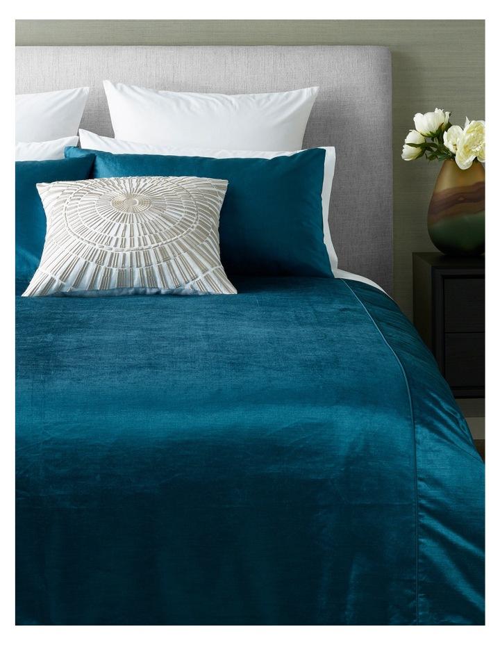 Iris Velvet Quilt Cover Set in Corsair image 1