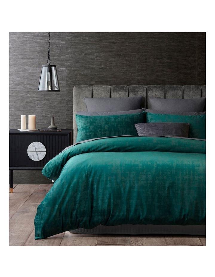Snapdragon Quilt Cover Set in Dark Green image 1