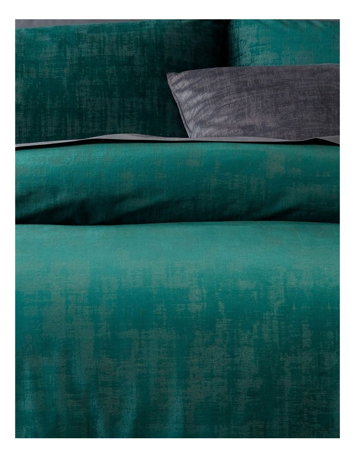 Snapdragon Quilt Cover Set in Dark Green image 2