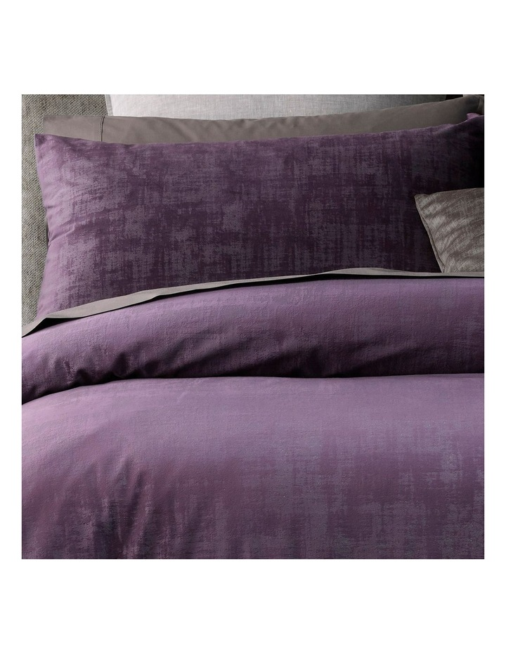Snapdragon Quilt Cover Set in Plum image 2