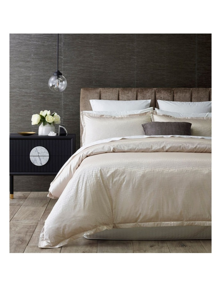 Oberoi Quilt Cover Set in Silver image 1