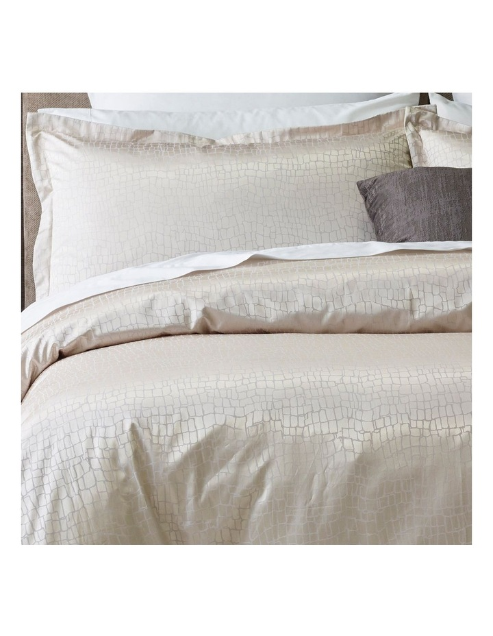 Oberoi Quilt Cover Set in Silver image 2