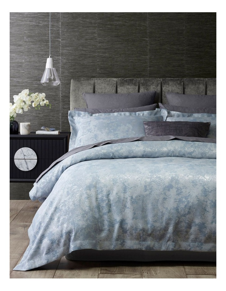 Alila Jacquard Quilt Cover Set in Silver image 1