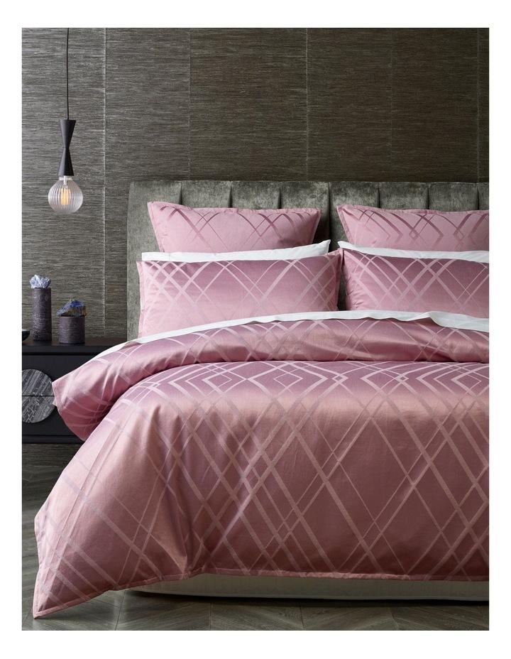 Manhattan Quilt Cover Set in Mauve image 1