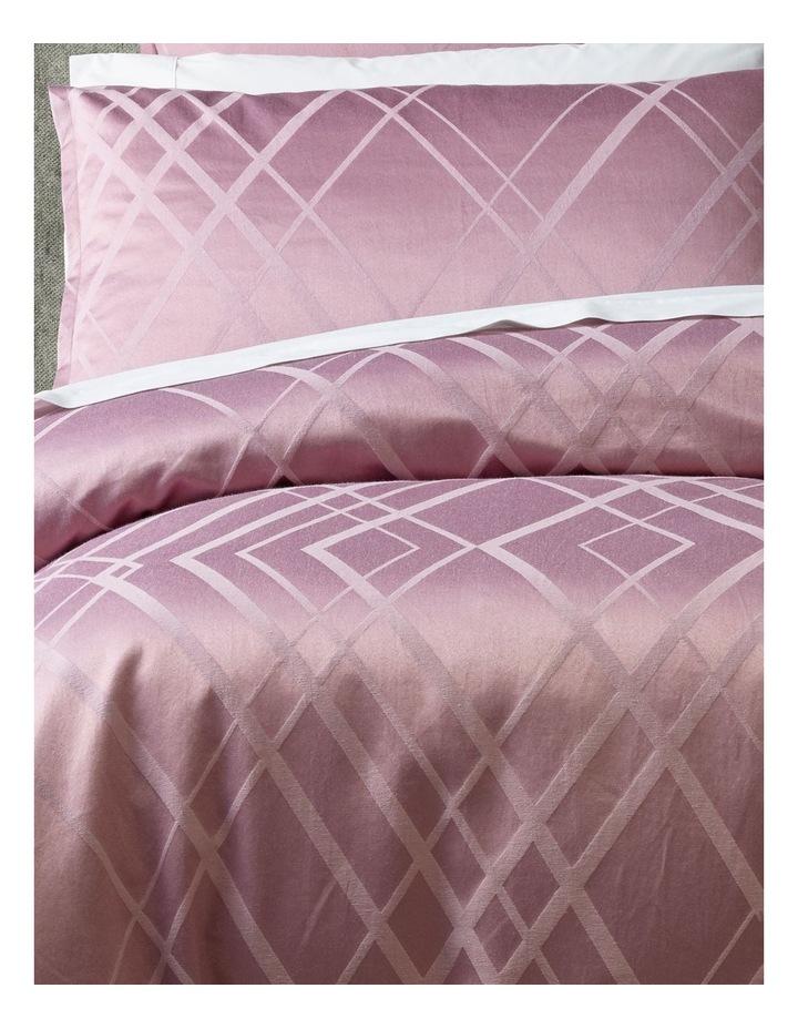Manhattan Quilt Cover Set in Mauve image 2