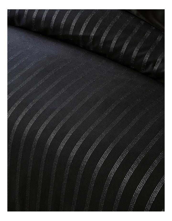 Obello Quilt Cover Set in Black/Silver image 2