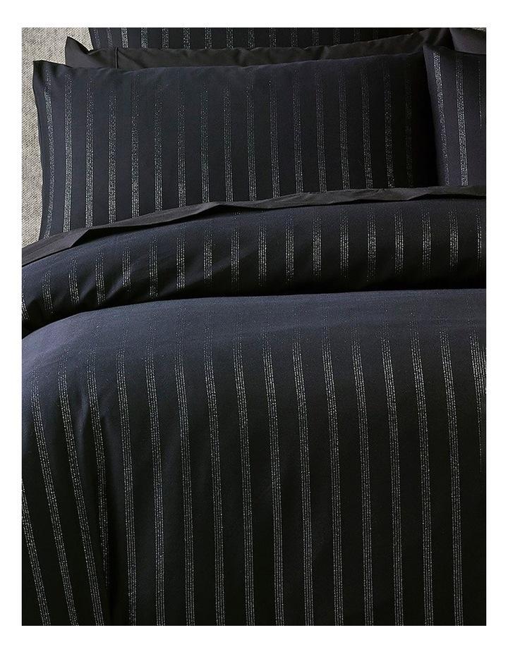 Obello Quilt Cover Set in Black/Silver image 3