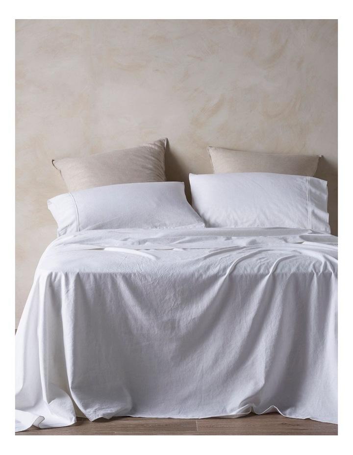 Hemp/Cotton Sheet Set In White image 1