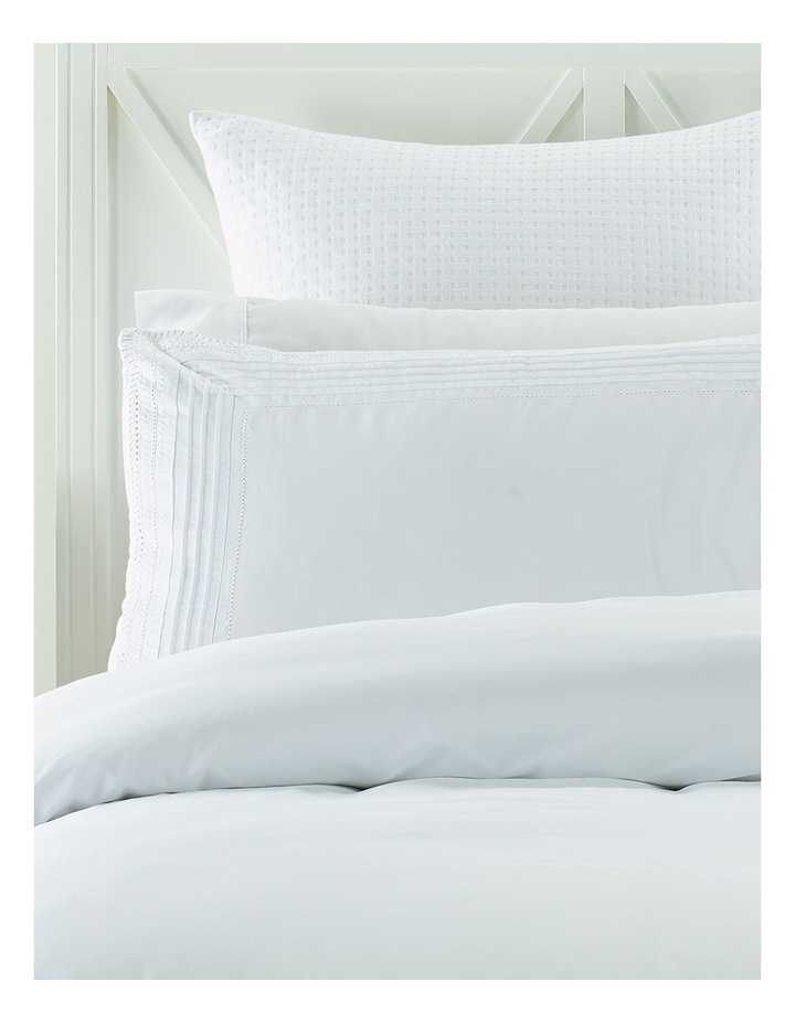 Marlow Pleated Ladder Quilt Cover Set in White image 2