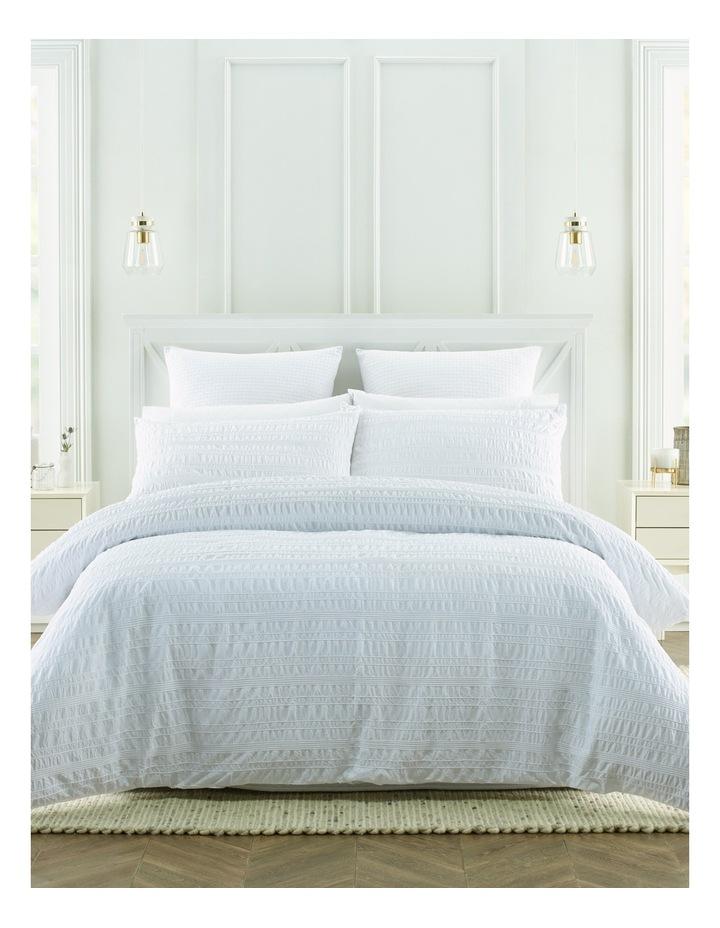 Westerham Seersucker Quilt Cover Set in White image 1