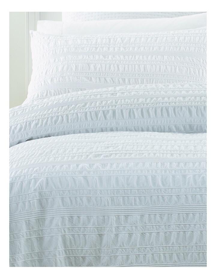 Westerham Seersucker Quilt Cover Set in White image 2