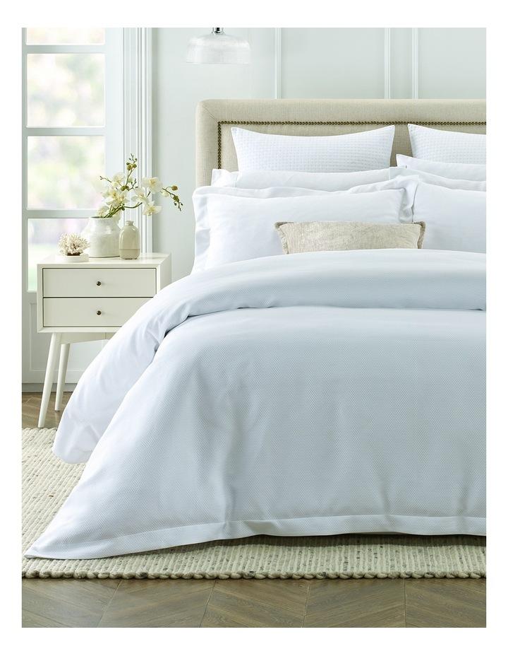 Newhaven Mattelasse Quilt Cover Set QS: White image 1