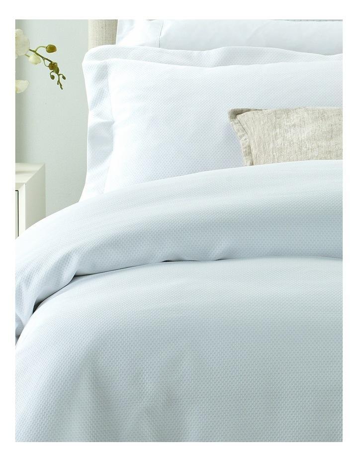 Newhaven Mattelasse Quilt Cover Set QS: White image 2