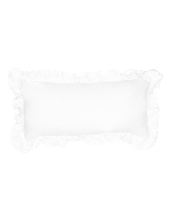 Camberly Ruffled Cushion in White image 1