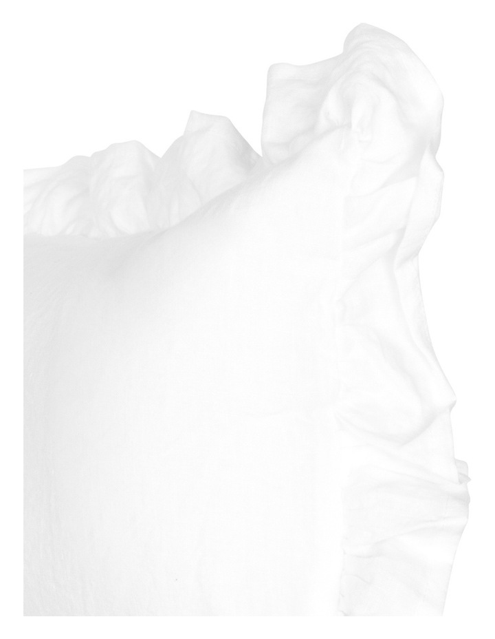 Camberly Ruffled Cushion in White image 2