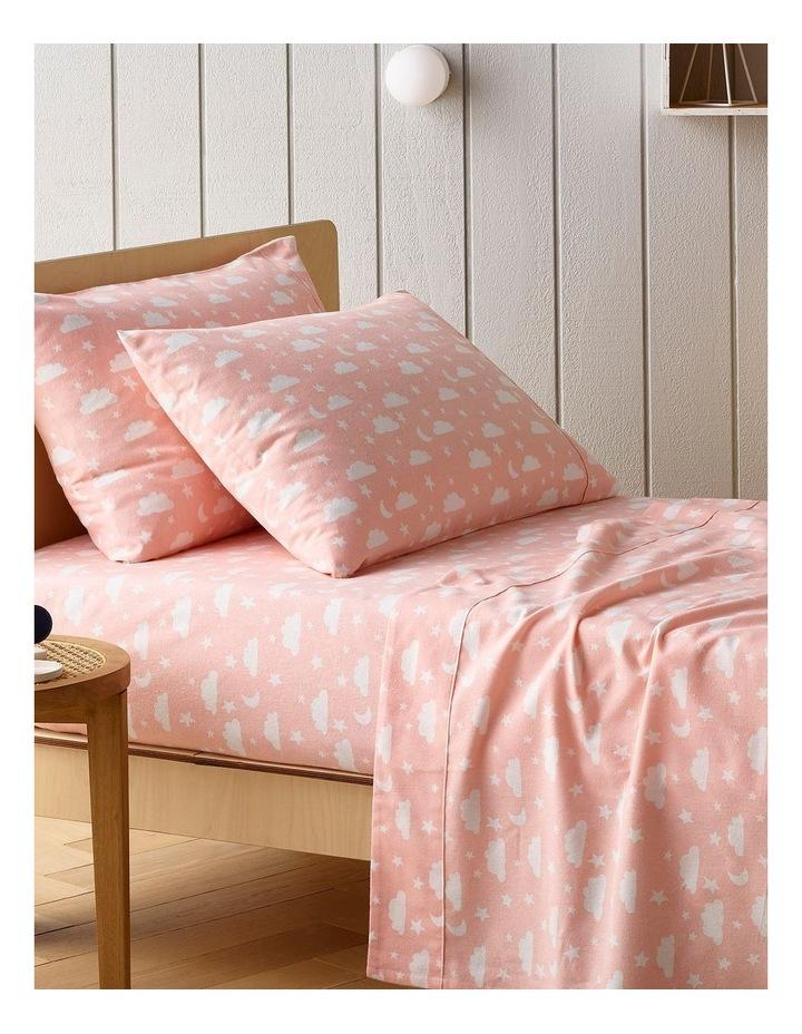 Turkish Cotton Clouds Flannelette Sheet Set in Pink image 1