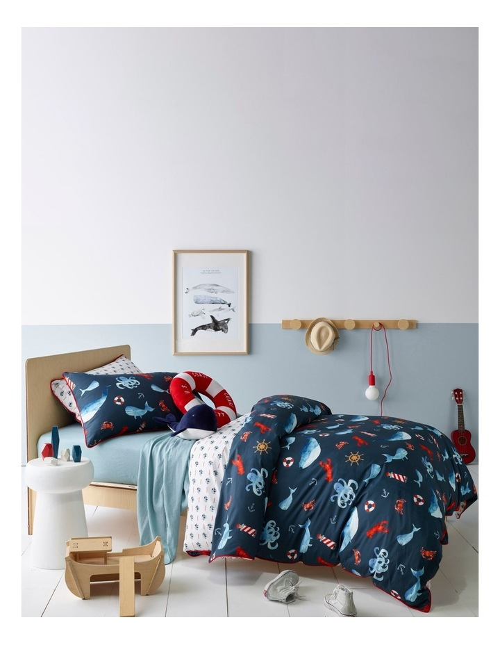 Deep Dive Quilt Cover Set in Blue image 1