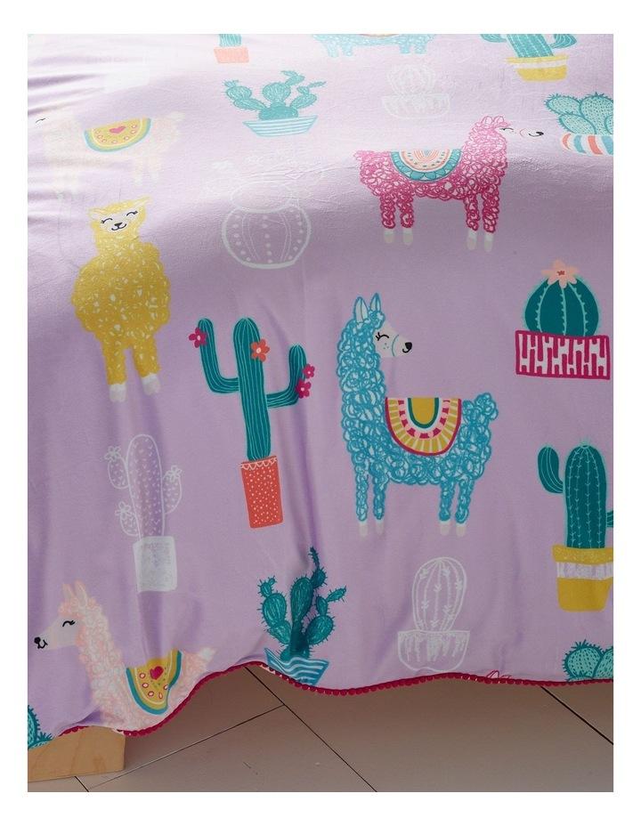 Lola Llama Quilt Cover Set in Purple image 3
