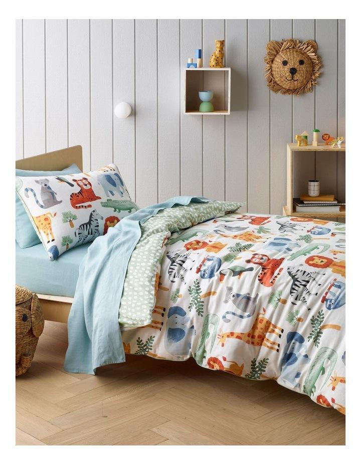 Animal Jumble Quilt Cover Set image 1