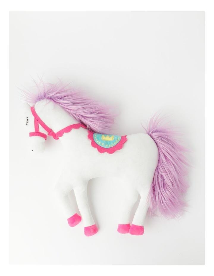 Horse Plush Cushion in White image 2
