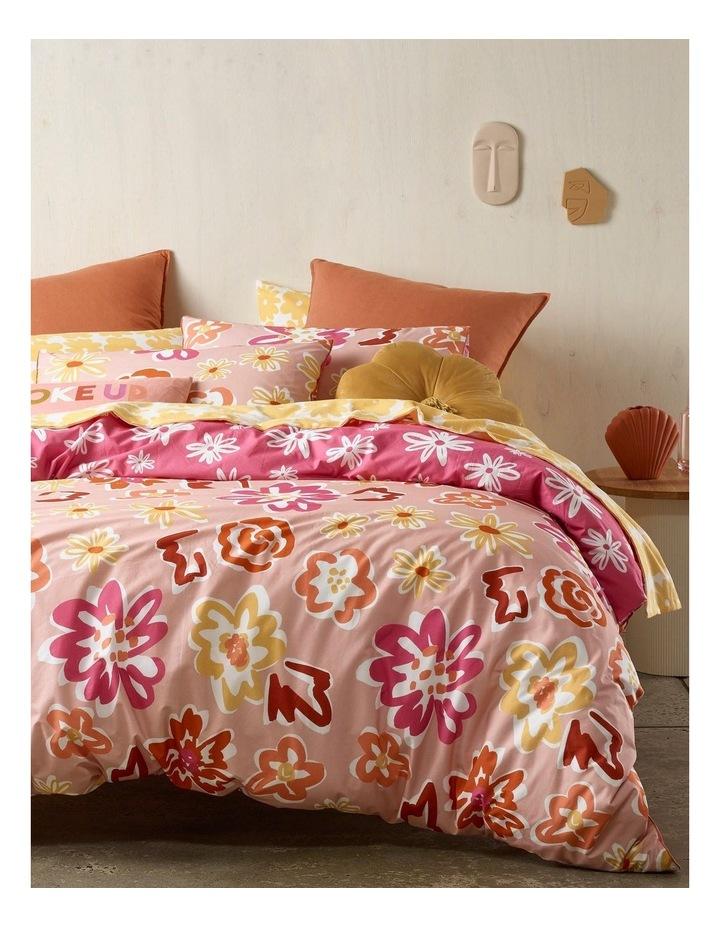 Poppy Flower Quilt Cover Set in Multicolour image 1