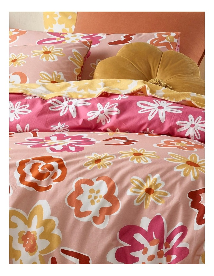 Poppy Flower Quilt Cover Set in Multicolour image 2