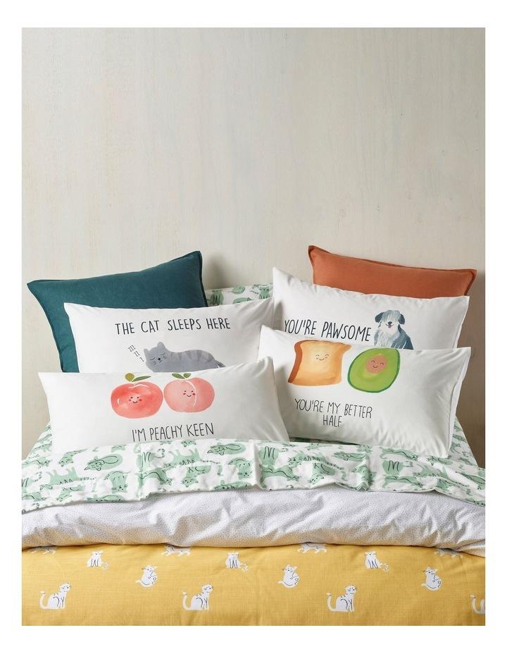 You're Pawsome Pillowcase in Multicolour image 5