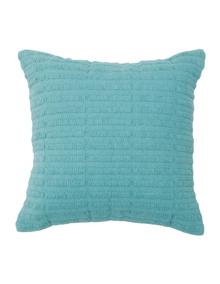 Dromana Woven Cotton Cushion in Aqua image 1