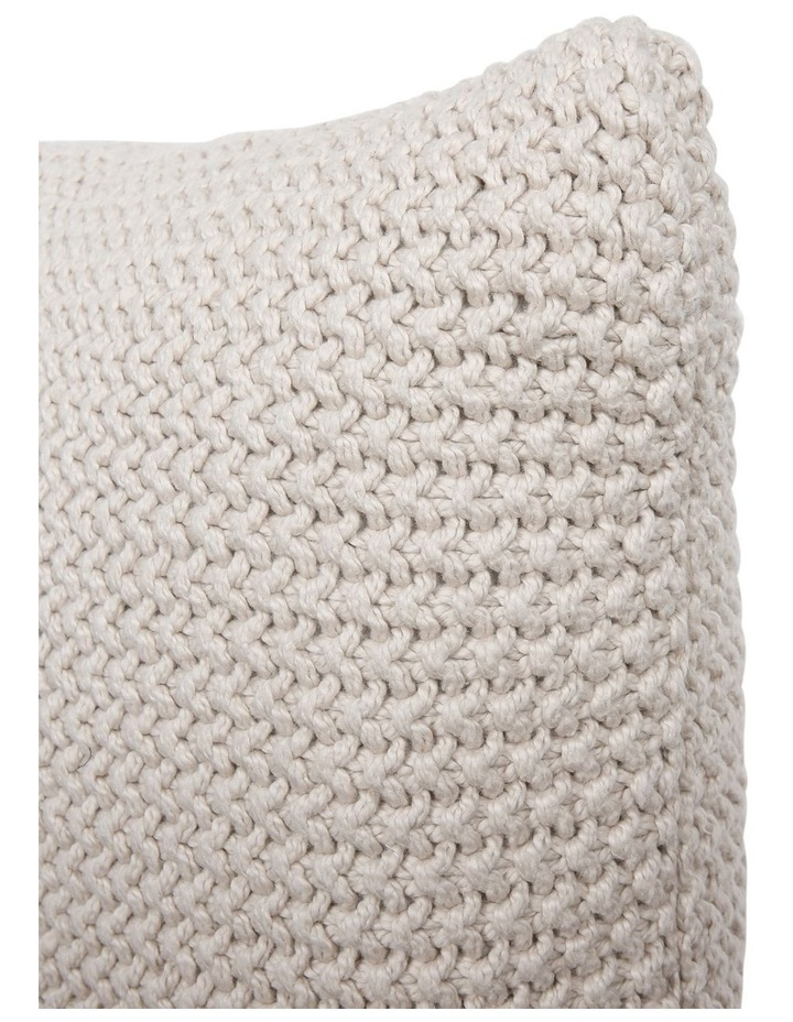 Norwood Knitted Cushion in Moonbeam image 3