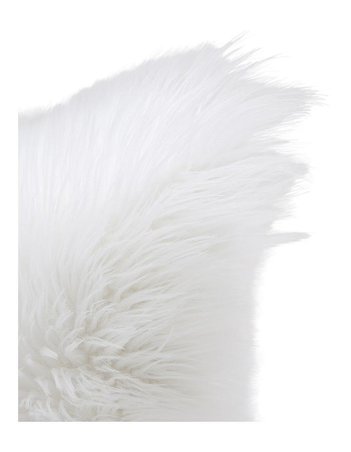 Kenya Faux Fur Cushion in White image 2
