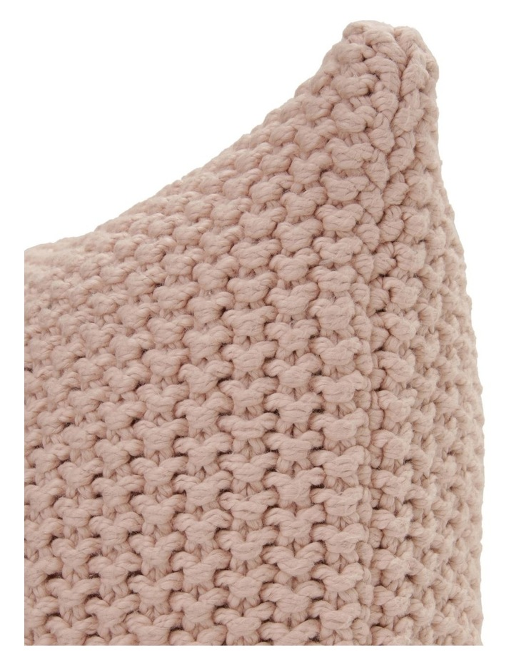 Norwood Knitted Cushion in Pink image 2
