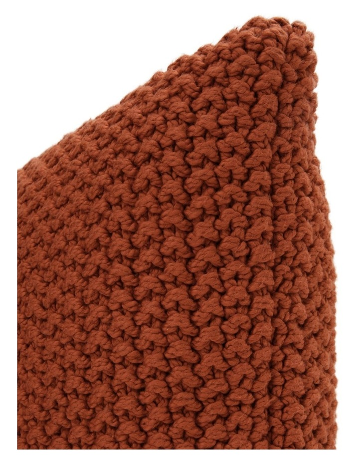 Norwood Knitted Cushion in Carnelian image 2